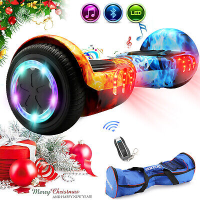 Hover Scooter Board 6.5'' Bluetooth Self Balancing Scooter Flash Wheels UK Plug • 129.99£
