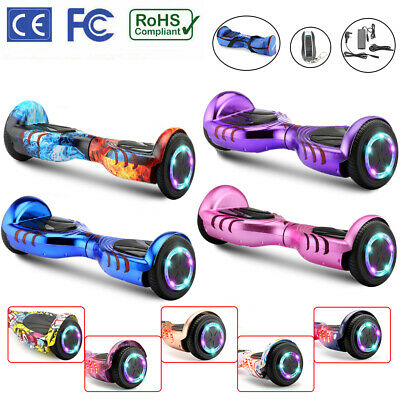 Hover Board 6.5 Electric Scooters Bluetooth LED 2Wheels Lights Balance Board TOP • 119.99£