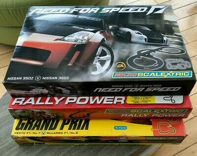 Bundle Of 3 Sets Of MicroScalextric Track - Only Two Cars Included • 15£