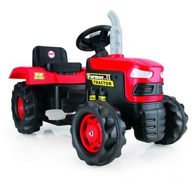 Dolu Kids Tractor Pedal Operated Ride On Truck Red Indoor Outdoor Garden Toys • 45.99£