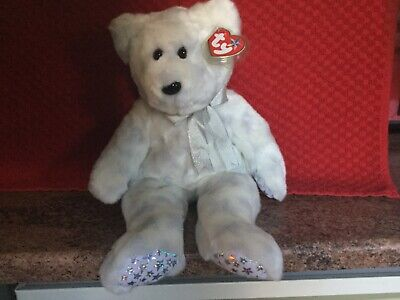 Rare Ty Beanie Buddy THE BEGINNING BEAR With Tags, Soft Toy Bear, Used • 4.99£