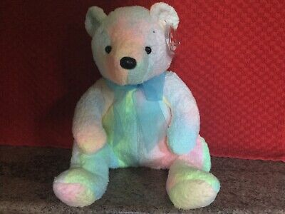 Rare Ty Beanie Buddy MELLOW With Tags, Soft Toy Bear, Used • 4.99£