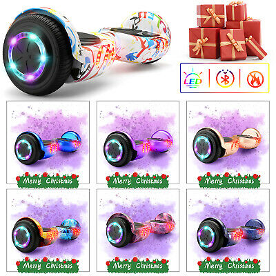 6.5  Hover Board Bluetooth Electric LED Self-Balancing Scooter W Bag Remote Key • 119£
