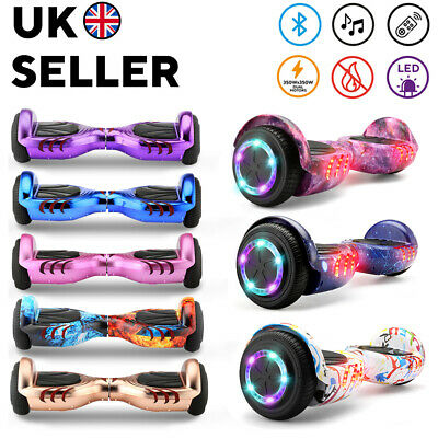 6.5  Hover Board Bluetooth Electric LED Self-Balancing Scooter Kids Xmas Gift UK • 119£