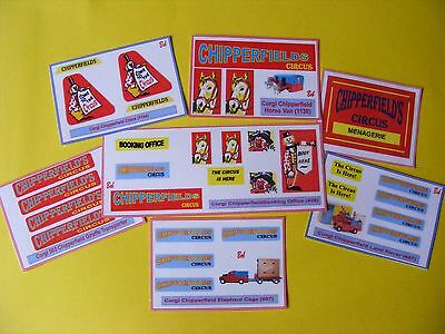 Corgi Type Chipperfield Sticker Collection – Seven Different Sheets  • 4.50£
