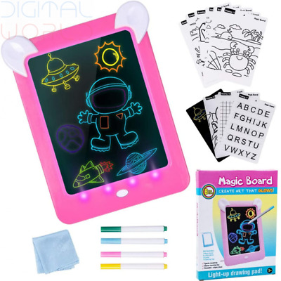 Eutionho Learning Toys Magic Pad For Kids Light-up Drawing With 8 Pink  • 26.89£