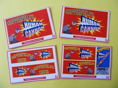 Chipperfield Circus 'human Cannon' Sticker Set • 2.50£