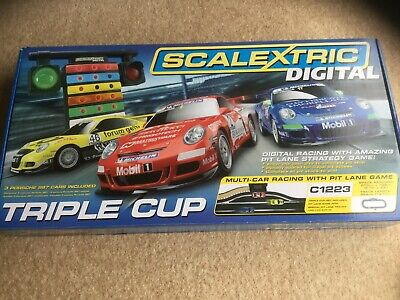 Scalextric Digital Triple Cup C1223 Full Box Set, Used, Excellent Condition • 46£