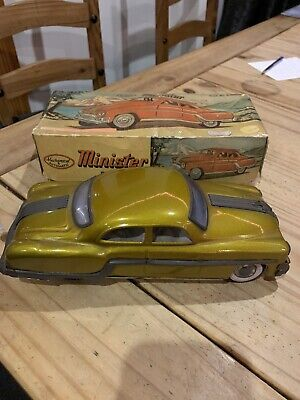 Vintage 1950's * Minister Delux Tin Plate Friction Toy Car • 12.50£