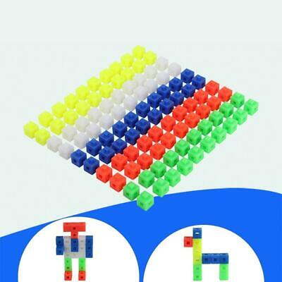 100x Snap Cubes Math Linking Cubes Interlocking Counting Blocks Early Learning • 4.68£