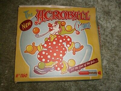 Boxed Acroball Game Bagatelle Clown Circus Childrens Toy Louis Marx 1160 C1950s • 29.99£