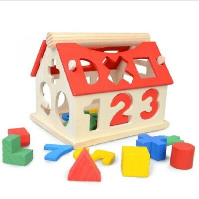 Toys Digital House Shape Sorter Wooden Puzzle Toy Kids Early Educational Game UK • 6.95£