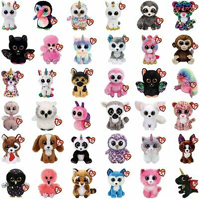 TY Beanie Boo Boos 6 16cm Soft Plush Toy Cuddly Teddy Birthday Present Gift Kids • 8.99£