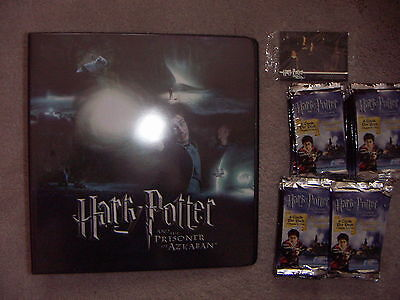 HARRY POTTER AND THE PRISONER OF AZKABAN 1 X Folder 36 Packs Of Cards , 2 Promos • 14.99£