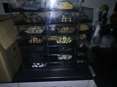 Atlas Editions Tanks, All In Excellent Condition 14 Cased NO Cracks • 24£