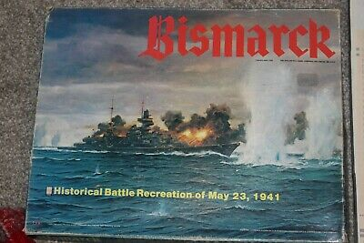 Rare Hard To Find Bismarck Board Game By Avalon Hill 1979 Preowned  • 19.99£