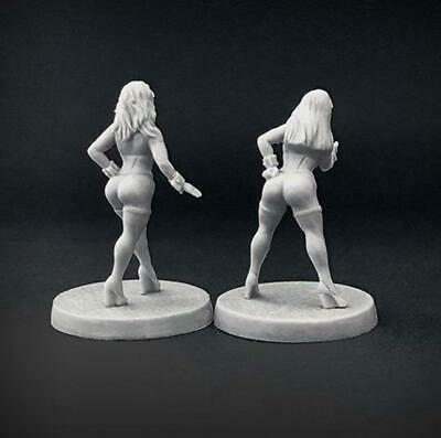 Brother Vinni Miniatures Naked Version Female Pinup Cute Bunnies X 2 Miniatures • 11.99£