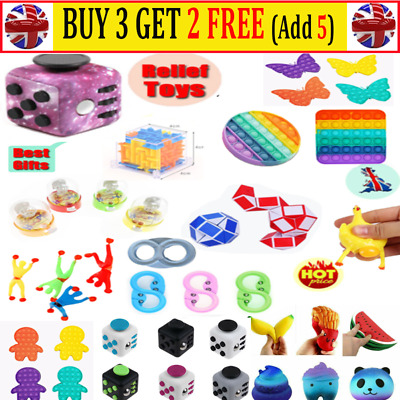 Pop It Sensory Toys Fidget Stress Autism Special Needs SENS Tiktok Game Gift AR • 6.35£