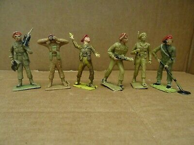 Cherilea British Paratroopers  Complete Set Of 6 Figures. 1960s  • 5.99£