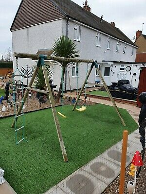 Plum Garden Swing Set Wood • 32£