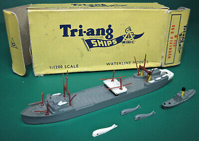 Triang Minic Ships Tss Vikingen,whale Chaser & 3 Whales Boxed Vg • 49.99£