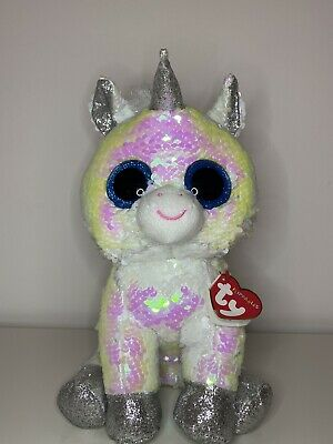 TY Flippable Diamond The White Unicorn 23cm DOB 1st March BNWT • 14£