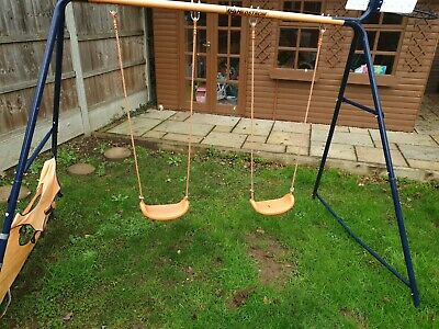Hedstrom Twin Swing With Basketball Hoop • 50£