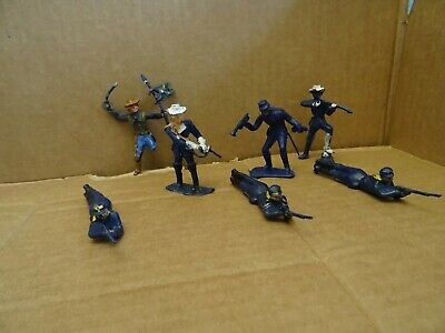 Cherilea US Cavalry/Union Soldiers  7 Figures. 1960s  • 5.49£