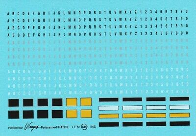 1:43rd Scale Number Plate Waterslide Decals • 6£