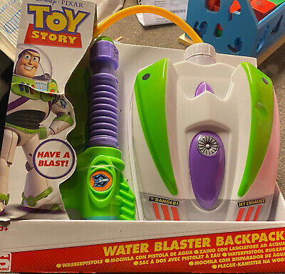 Disney Toy Story Buzz Large Portable  Kids Water Blaster Backpack And Water Gun  • 12£