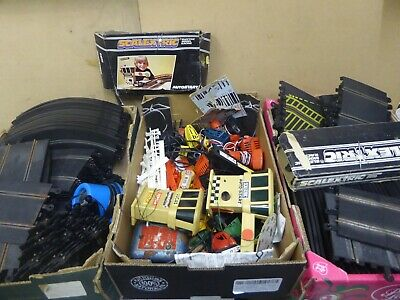 Vintage Scalextric Track And Accessories .Classic Track / Barriers / Auto Start • 14.99£