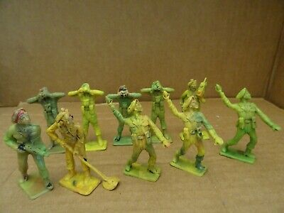 Cherilea British Paratroopers  Group Of 10 Figures. 1960s  • 6.99£