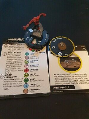 Marvel Heroclix - Earth X - SPIDER-MAN #037a + Web Shooters #S003 • 17£