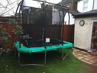 Used Rectangular Trampoline 8ft X6ft Buyer To Dismantle And Take Away • 99£