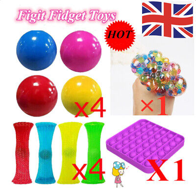 Figit Fidget Toys Anti-Anxiety Stress Relief Sensory Toys Decompression 10PC New • 13.23£