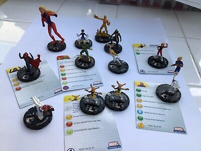 12 Marvel Heroclix Figures • 3.99£