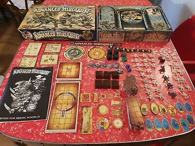 Vintage Boxed Advanced Heroquest Board Game Games Workshop 1990 • 24.99£