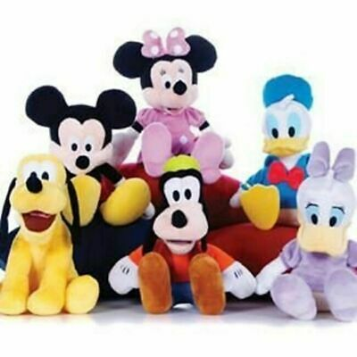 Soft Mickey Mouse Minnie Donald Duck Pluto Plush Cuddly 12  Toy Birthday Gift • 8.99£