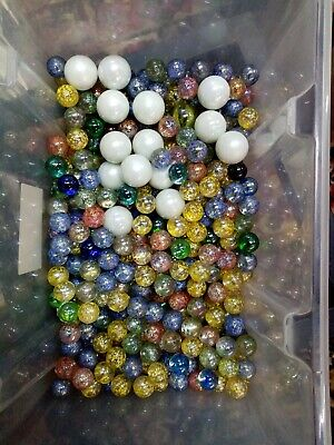 Joblot Of Glass Marbles 100 Plus Marbles • 0.99£