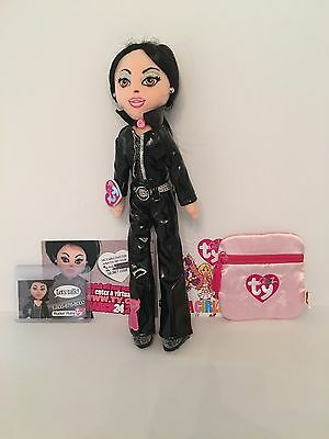 Ty Girlz (Series 1) - Rockin' Ruby (Black Hair) With Exclusive Extras - 2007 • 14£
