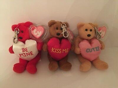 Ty Valenteenie Babies - Three Bears With Key Clips • 15£
