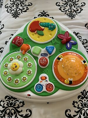 Chicco Activity Table Baby Garden 12m+ Toy English French Light Up Rrp £45 • 15£