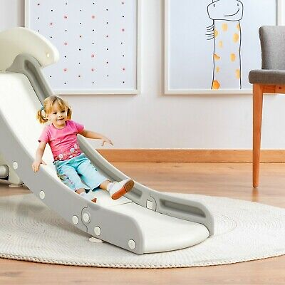 Kid's First Slide, Foldable Baby Climber Set With Basketball Hoop • 98.99£