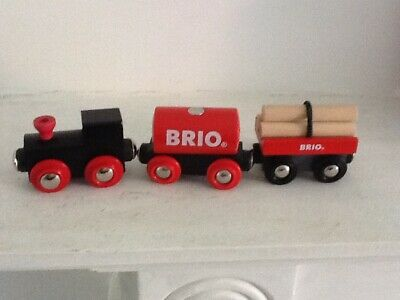 Brio Train And Wagons Wooden • 10.50£
