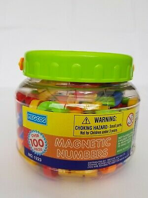 Megcos Educational Preschool Toddler Magnetic Plastic Numbers No 1223 3 Years+ • 2.50£