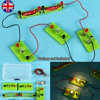 DIY Science Toys Kids School Electric Circuit Kit Set Montessori Learning Funny • 6.89£