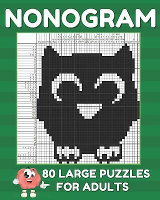 Nonogram Puzzle Books For Adults: Large Griddlers Logic Pu... Paperback Book New • 5.65£