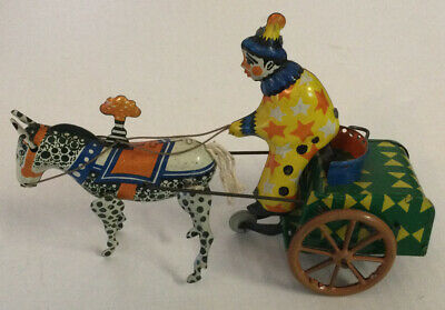 Clown And Horse Tin Toy For Restoration • 9.99£