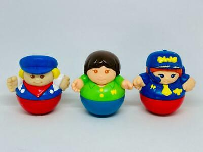 Vintage Playskool Inc Weeble Wobble Toys X 3 1987 Train Driver & 2 Others • 9.99£