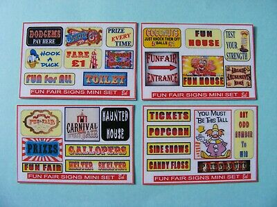 FUN FAIR SIGNS STICKER PACK – 4 X MINI SHEETS • 2.50£